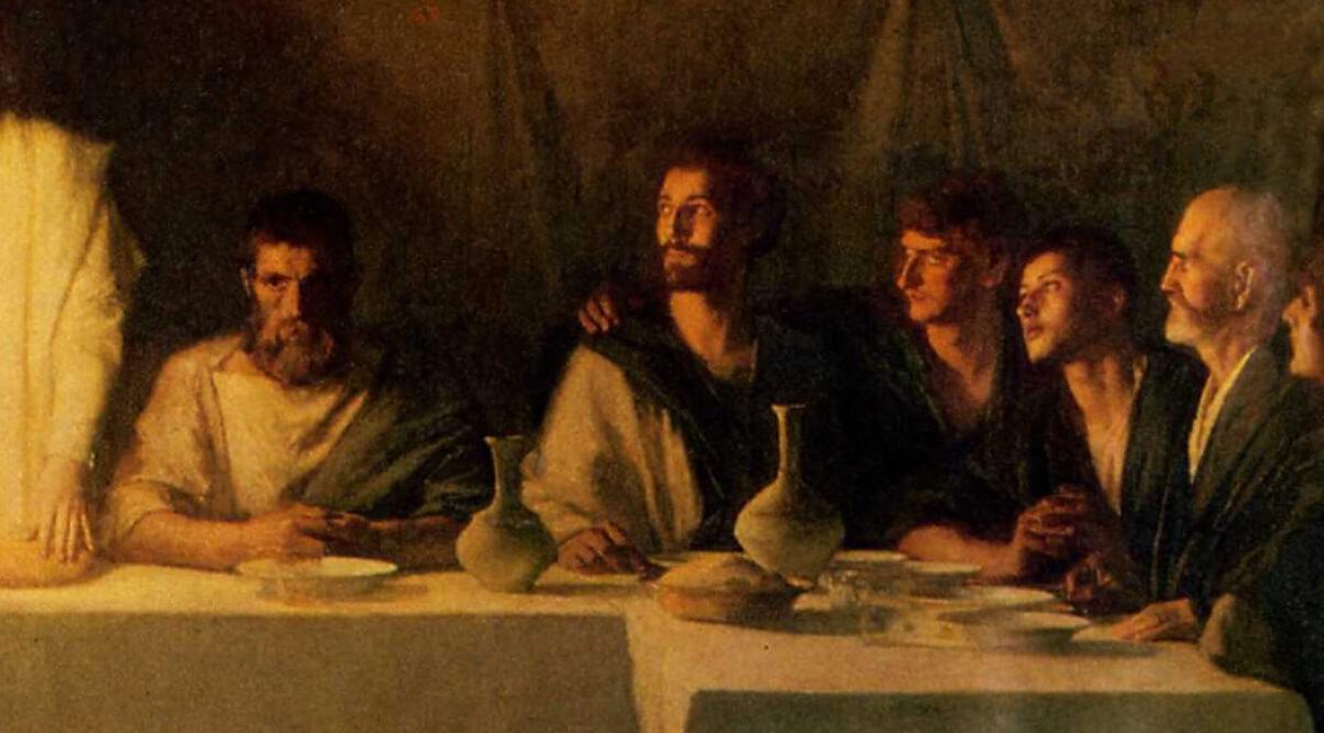 The Last Supper (La Cène) (Detail, Right) - Dagnan-Bouveret