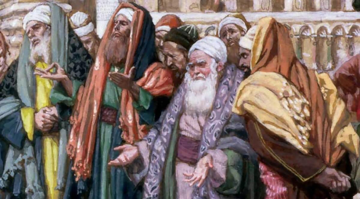 The Pharisees Question Jesus (Les pharisiens questionnent Jésus) - Detail, Pharisees