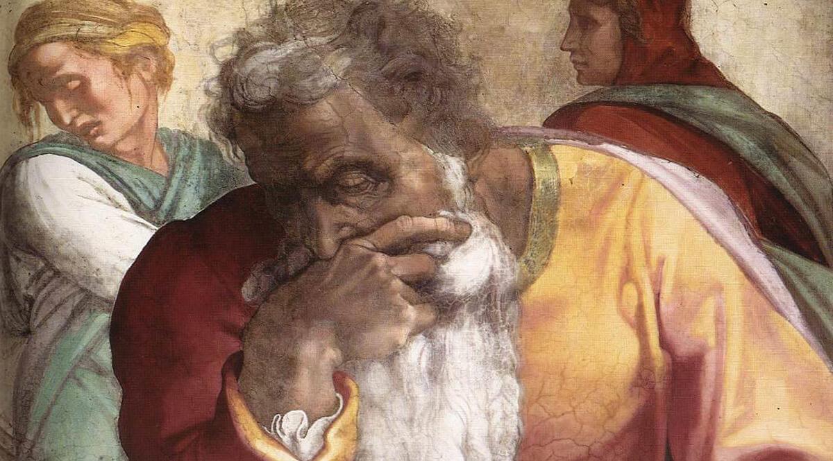 The Prophet Jeremiah in the Sistine Chapel