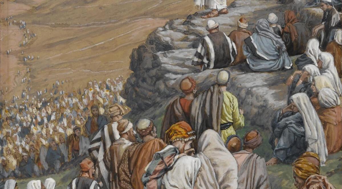The Sermon of the Beatitudes - Tissot