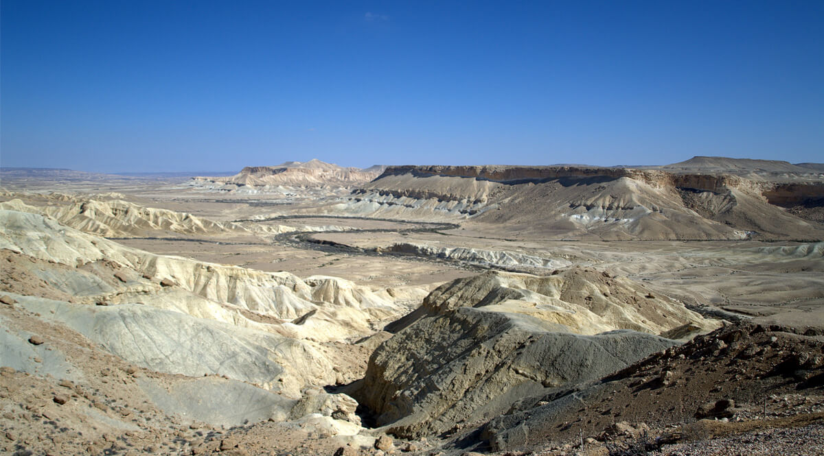 The Zin Valley in the Negev Desert of Israel