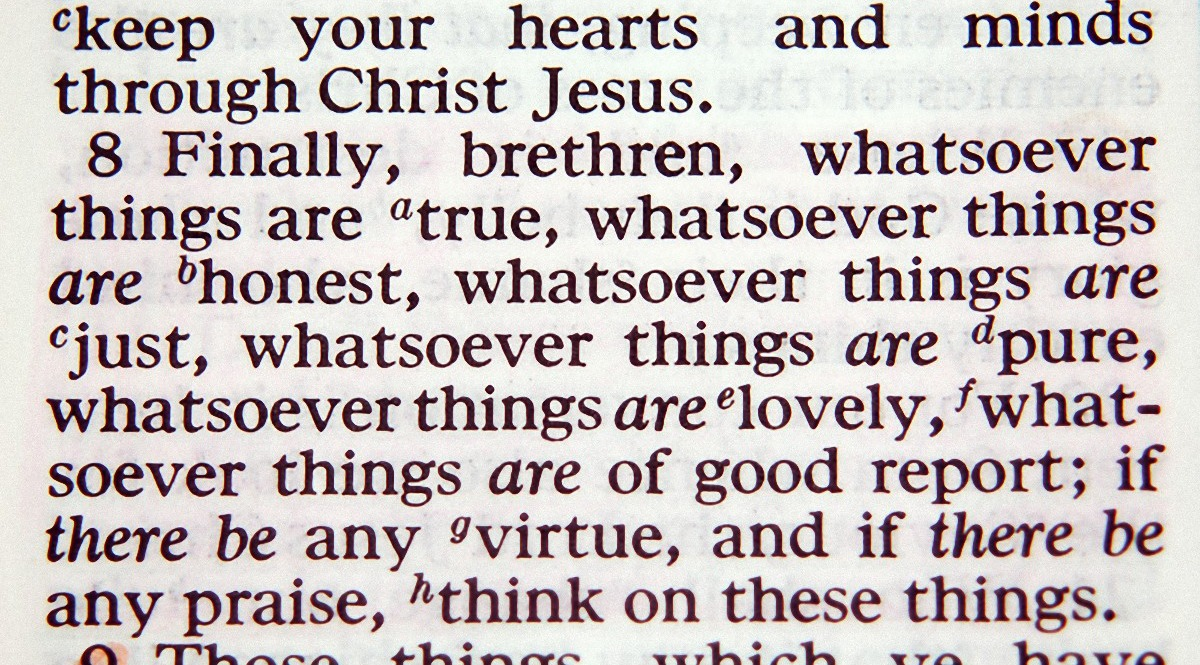Think on These Things - Philippians 4,8