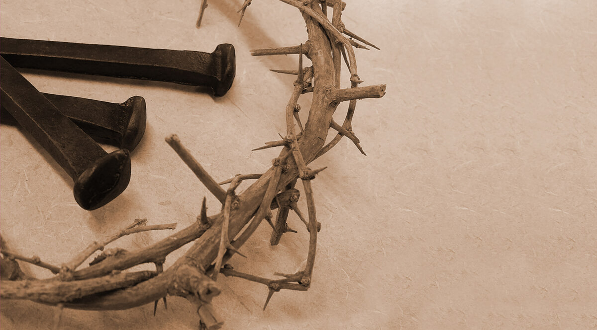 Three Nails Laying in a Crown of Thorns