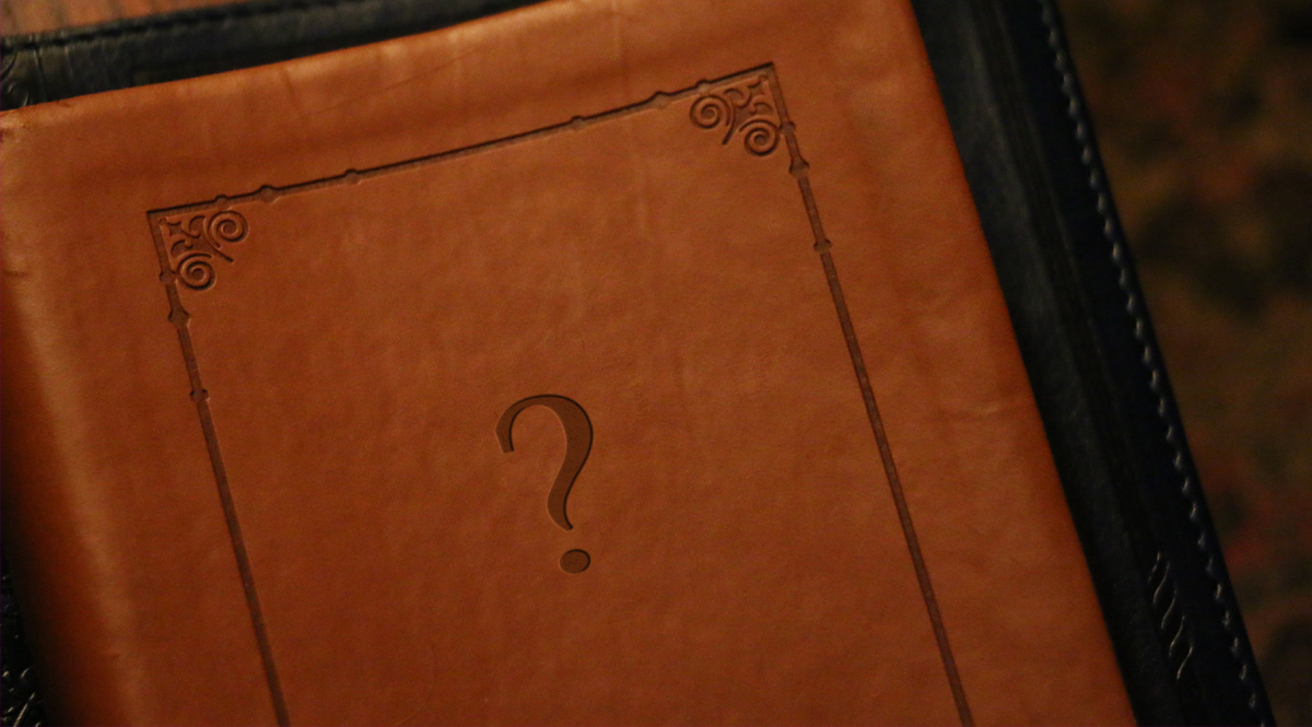 Bible Cover with Question Mark