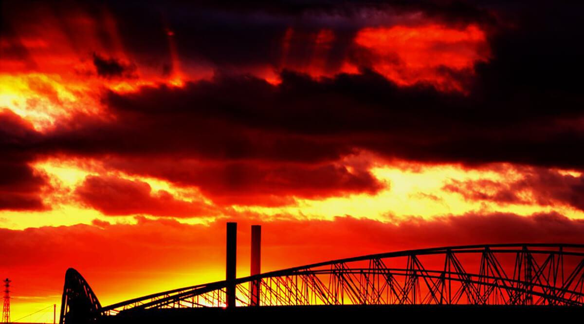 Red Melbourne Sunset